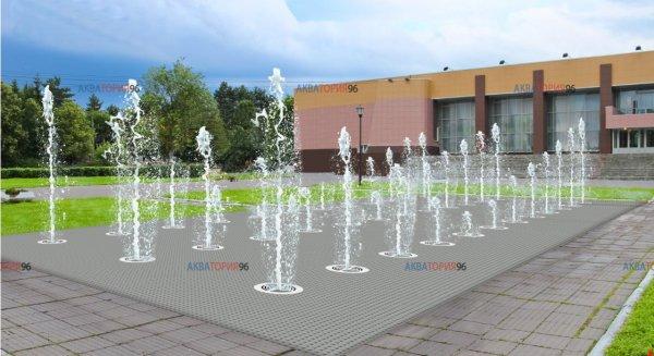 Проектирование пешеходных фонтанов, проект фонтана