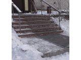 Греющие резиновые дорожки против гололеда и снега на улице