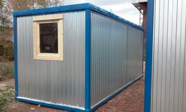 Блок контейнер 6.0 двп (металлическая строительная бытовка вагончик)