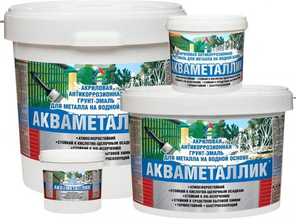 Акваметаллик - водная антикоррозионная грунт-эмаль по металлу