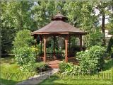 Беседка садовая деревянная восьмигранная, диаметром 3,8 м. размер каждой секции 140 см.