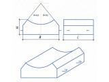 Блоки лекальные Гост(серия) 777/2 Блок №4а Размеры(L:B:H): 1000:1190:430 Блок №5а Размеры(L:B:H): 1000:1600:520
