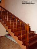 Декоративная отделка бетонных лестниц деревом