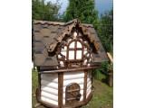 домик для колодцев Теремок. С элементами старения древесины. Колодезный домик из блок-хауса 135 45 мм
