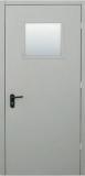 Двери противопожарная металлическая остекленная однопольная