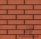 Кирпич облицовочный Новомосковский, персик красный, гладкий, 1 НФ, одинарный