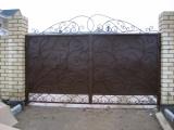 Кованные металлические ворота