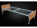 Кровати металлические из высокопрочных материалов, Кровати на металлокаркасе со спинками ДСП, Кровати оптом