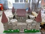 Макеты древних замков из природного натурального камня известняка . На заказ .