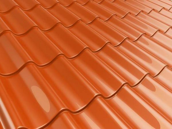 Металлочерепица цвет Оранжевый 0,4 мм