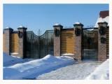 Недорого-ворота кованые с монтажом в Старом Осколе, Губкине от ЗДК. 7(4725) 333-000