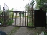 Откатные прозрачные ворота