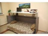 Откидная кровать совмещённая со столом – не только современной, но и удобное решение для детских и подростковых комнат.