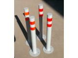 Парковочный столбик ПС-2, материал - труба 76 мм, высота 700 мм, плоская заглушка, анкерное крепление