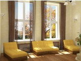 Пластиковое окно 1160х1180. ПВХ профиль VEKA EUROLINE (класс А, 58 мм)