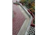 Поребрик тротуарный серый 495х205х35