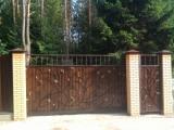 Сдвижные кованные ворота