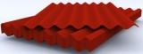 Шифер 8-ми волновой СВ-40 красный, 1750*1130*5,2мм