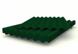Шифер 8-ми волновой СВ-40 зеленый, 1750*1130*5,2мм