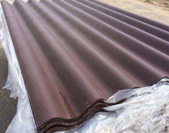 Шифер хризотилцементный 7-ми волновой коричневый