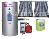 Солнечный коллектор для ГВС и отопления Сплит-система SH-200-24-2 бак 200 л с двумя теплообменниками 24 трубки