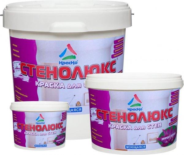Стенолюкс - краска для стен моющаяся с эффектом лотоса