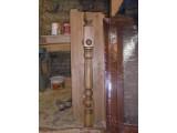 Столб-Кнопка 100х100х1180 из дуба, ясеня. Ручная доводка.