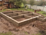 Строительство фундамента для дома.