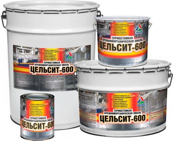 Цельсит-600 - термостойкая кремнийорганическая эмаль для металла