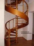 Винтовая деревянная лестница для дома, дачи, коттеджа. Модели 2012 года!