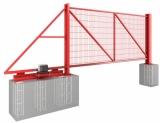 Ворота откатные. Стоимость указана для проема 4000х2000 (h). Заполнение сварная сетка. Любые размеры и заполнение.