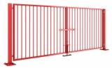 Ворота распашные. Стоимость указана для проема 4000х2000 (h). Заполнение сварная обрешетка. Любые размеры и заполнение.